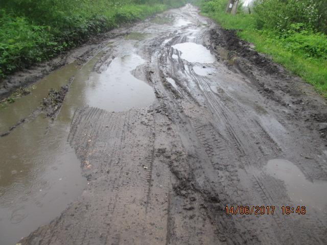 Плохие дороги в Трубино, тверская область