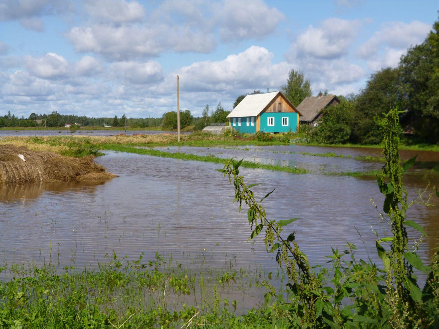 Люди страдают от затопления Псковской обл, Пыталовского р-на