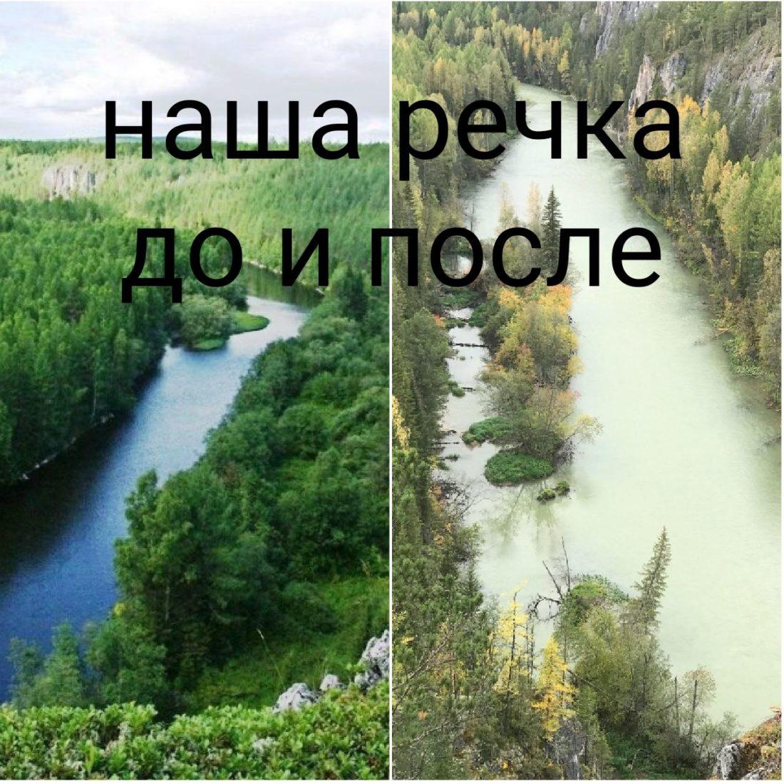 Обращаемся с просьбой принять меры по установлению и устранению очагов загрязнения реки!